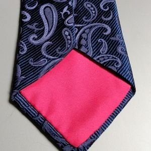 Tommy Hilfiger Blue Paisley Silk Tie NWT